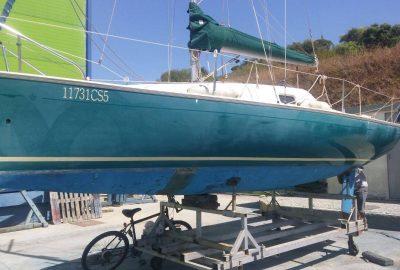 Spray Paint Before - sailboat